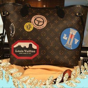 Authentic Louis Vuitton World Tour Neverfull MM🌎